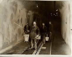 METRO UNDERGROUND TRAMS WHITEWASHING RAILWAY CHEMIN DE FER EISENBAHN 21*16CM Fonds Victor FORBIN 1864-1947 - Trenes