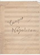 SPARTITO MUSICALE Manoscritto CANZONI NAPOLETANE Di Ada Torella - Mazurka - Spartiti