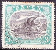 PAPUA 1927 3d Black & Blue-Green SG98c Used - Papua New Guinea