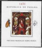 PANAMA - 1968 - HANS MEMLING - MUSICA NELLA PITTURA - FOGLIETTO NUOVO ** (MICHEL BL93) - Arte