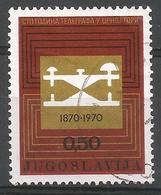 YU 1970-1396 100A°TELEGRAF IN MONTENEGRO, YUGOSLAVIA, 1v, Used - 1945-1992 Sozialistische Föderative Republik Jugoslawien