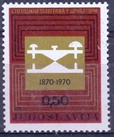 YU 1970-1396 100A°TELEGRAF IN MONTENEGRO, YUGOSLAVIA, 1v, MNH - Telekom