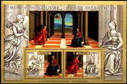 FRANCE Bloc   90 ** MNH Emission Commune Conjointe Vatican Musée Louvre - Mint/Hinged