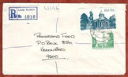 Einschreiben Reco, Rathaus Bloemfontein U.a., Lime Acres Ueber Kimberley Nach Kroonstad 1984 (77658) - Storia Postale