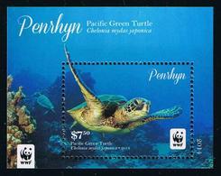 PENRHYN - 2014 - Faune En Danger, Tortue Verte Du Pacific, WWF  - BF Neufs // Mnh - Penrhyn