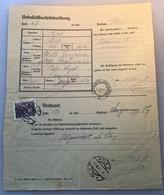 Österreich 1931 Postformular UNBESTELLBARKEITSMELDUNG FÜR 1 PAKET (UPU LANGENEGG VORARLBERG BRIEF  WELS FELDKIRCH - 1918-1945 1. Republik