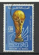 Marokko Marocco 1974 Fussball WM Deutschland Michel 776 O - Fußball-Weltmeisterschaft