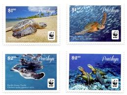 PENRHYN - 2014 - Faune En Danger, Tortue Verte Du Pacific, WWF  - 4 Val Neufs // Mnh - Penrhyn