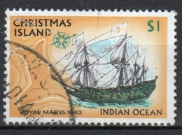Christmas Island  One Dollar Stamp From 1972 Ships Set. - Christmas Island