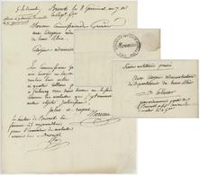 Neuf-Brisach An 2 - 28.3.1799 Le Commissaire Des Guerres Moreau Mention Service Militaire Pressé - Marcophilie (Lettres)