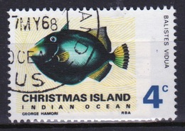 Christmas Island 4 Cent Stamp From 1968 Fish Set. - Christmas Island