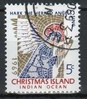 Christmas Island 5 Cent Single Stamp From 1969 Christmas. - Christmas Island