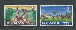 Kenya 1963 2 Shilling Coffee & 5 Shilling Tea FU - Kenya (1963-...)