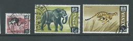 Kenya 1966 70c Ostrich 1/30 Elephant & 2/50 Cheetah FU - Kenya (1963-...)