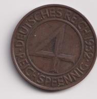 GERMANY , 4 REICHSPFENNIG 1932 A - [ 3] 1918-1933 : Weimar Republic