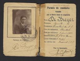 PERMIS DE CONDUIRE LEOPOLDVILLE * CONGO BELGE * BELGISCH CONGO * 1926 * BOMA * VOIR SCANS - Documents Historiques