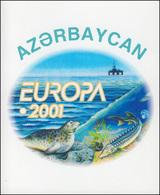 2001 Aserbaidschan 494D-495D Lebensspender Wasser, Markenheftchen ** - Europa-CEPT