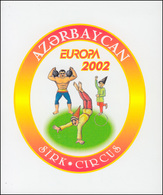 2002 Aserbaidschan 513D-514D Zirkus, Markenheftchen ** Postfrisch - Europa-CEPT