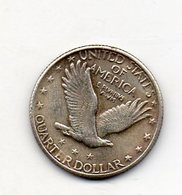 USA : 25 Cts 1917 - 1916-1930: Standing Liberty (Liberté Debout)