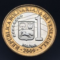 Venezuela 1 Bolívar 2009. Y93 Coin UNC - Venezuela