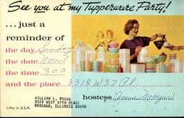 ! Werbung, Reklamekarte  Tupperware, 1964, Advertising, Chicago, USA - Werbepostkarten
