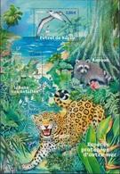 FRANCE Bloc  107 ** MNH Nature Iguane Antilles Racoon Guadeloupe Jaguar Guyane Pétrel De Barau La Réunion - Mint/Hinged