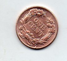 USA : 1 Ct 1857 - Émissions Fédérales
