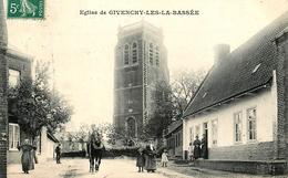 Givenchy Les La Bassée - Rue Du Village Et église - 1907 - Belle Animation - Altri Comuni