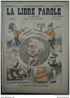 1894 JUDIACA - CARICATURE - LES AVATARS DE SIMON DE LOCKROY ( EMILE COURTET ) - LES AIEUX ( GRAVELLE ) - LA LIBRE PAROLE - 1850 - 1899