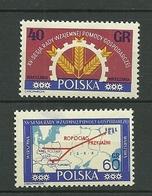 POLAND MNH ** 1138-1139 Conseil De L'entraide économique Des Pays De L'Est Emblème Industrie Agriculture Carte Europe - 1944-.... République