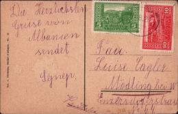 ! Alte Ansichtskarte, Old Postcard 1923 Shqypnü Lesh, Albanien, Albania, Shqyptare - Albanien