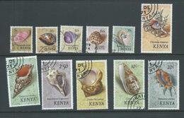 Kenya 1971 Shell Definitives 11 Values 5c To 20 Shillings FU - Kenya (1963-...)