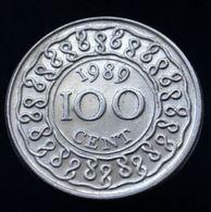 Suriname 100 Cents 1987-89, Km23, South America Coin - Suriname 1975 - ...