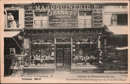 ! Alte Ansichtskarte Paris, Boulevard Poissonniere 28, Maroquinerie, Geschäft, Commerce, Shop - District 09