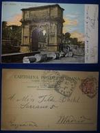 ITALIA ITALY ITALIE TARJETA POSTAL POSTCARD ROMA ARCO DE TITO CIRCULADA A ESPAÑA 1903 - Roma (Rome)