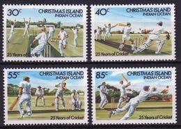 Christmas Island 1984 Set Of Stamps To Celebrate  25 Years Of Cricket. - Christmas Island