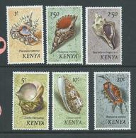 Kenya 1971 Shell Definitives 1 Shilling - 20 Shillings MNH , Some With Gum Knocks And Odd Glaze On Gum - Kenya (1963-...)