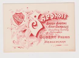 Carte Publicitaire Savon Anti-cambouis SAPONOFF - Publicités