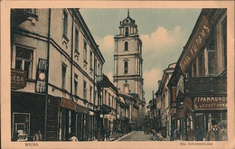 ! Alte Ansichtskarte Aus Wilna, Johannstrasse, 1917, 1. Weltkrieg 86. Regiment - Litauen