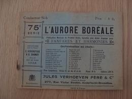 RECUEIL L'AURORE BOREALE 75 Eme SERIE JULES VERHOEVEN PERE & Cie - Partitions Musicales Anciennes