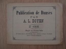 RECUEIL DE PUBLICATION DE DANSES PAR A. L. DOYEN - Scores & Partitions
