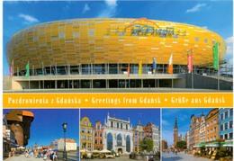 Postcard Stadium Gdansk Poland Stadion Stadio Estadio Stade Sports Football Soccer - Fussball