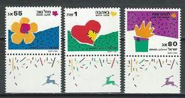 Israel Mi 1164, 1165 II, 1166 II ** MNH - Israel