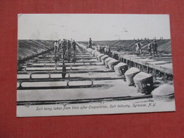 Salt Being Taken From Vats After Evaporation  Salt Industry   Syracuse NY   >  Ref 3537 - Industry