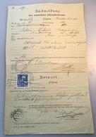 1911 Postformular RÜCKMELDUNG UNBESTELLBARE FAHRPOSTSENDUNGEN MEZZOLOMBARDO TRENTINO ITALIA (LANGENEGG BRIEF ÖSTERREICH - Briefe U. Dokumente