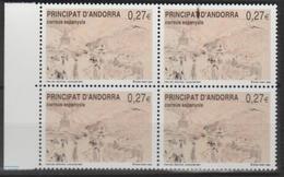 ANDORRA CORREO ESPAÑOL ESTOS SELLOS EN BLOQUE DE 4 O SIMILARES SIN CHARNELA (L.B.4.3) - Andorra Española