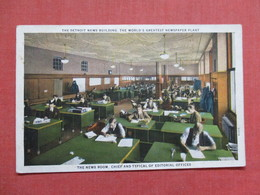 The Detroit New Building  Newspaper News Room  & Editorial Offices    >  Ref 3537 - Industry