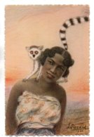 (Madagascar) 064, Illustrateur L Liezard, Yvon 11, Femme Au Maky, Expo Coloniale De 1931 - Madagaskar