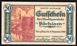 Austria Pöchlarn (Niederösterreich) 1920 / 50 Heller / Gutschein / Kirche / Notgeld, Banknote - Austria