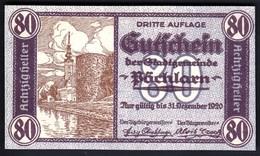 Austria Pöchlarn (Niederösterreich) 1920 / 80 Heller / Gutschein / Kirche / Notgeld, Banknote - Oesterreich